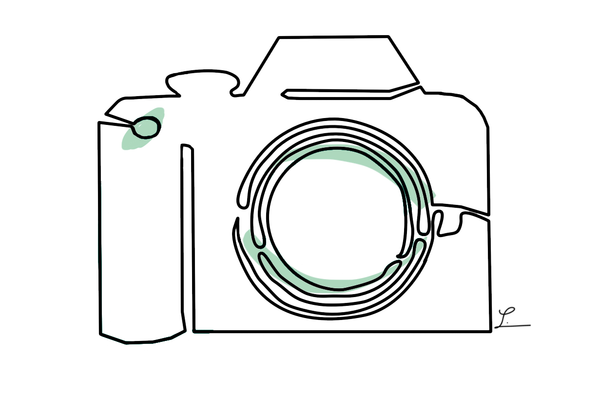 One Line Drawing Camera